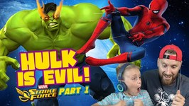 Team Spider-Man Vs Evil Hulk Marvel Strike Force Game Pt 1