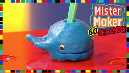 Whale Toothbrush Holder - How To Make In 60 Seconds - Mister Maker