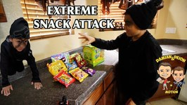 EXTREME SNACK ATTACK - AVOID THE TRAPS - D and D SQUAD BATTLES