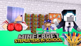Minecraft Royal Family- EVIL STEPSISTERS JOIN SCHOOL!!