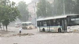 Downpour and Clogged Drains Cause Flooding in Streets of Ufa
