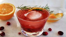 Pomegranate Orange Rosemary Cocktail