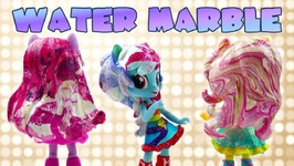My Little Pony Water Marbling Hairstyle - DIY Water Marble Nail Art For Kids