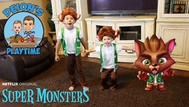 SUPER MONSTERS at DEION'S PLAYTIME - DEION and DOMINICK are WEREWOLVES