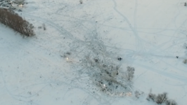 Authorities Use Drone to Survey Plane Crash Site Outside Moscow