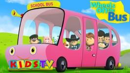 Pink Wheels On The Bus - Little Eddie Cartoons - Nursery Rhymes