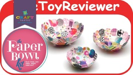 Craft-tastic Paper Bowl Kit DIY Craft Girls Glue Pattern Cute Unboxing Toy Review