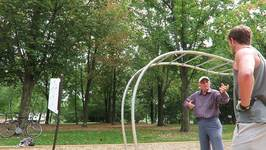Elderly Gentleman Reminisces About His Youth To New Friend in Park