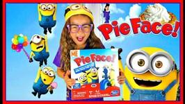 PIE FACE CHALLENGE Kids Play Minion Pie Face Challenge
