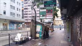 Debris and Fallen Trees Strewn About Hong Kong As Typhoon Hato Hits