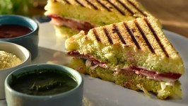 Grilled Dhokla Sandwich - How To Make Grilled Sandwich With Dhokla - Dhokla Grilled Sandwich