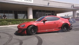 LS Swap Frs Widebody Donuts At A Dealership