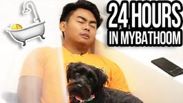 24 HOUR OVERNIGHT CHALLENGE IN BATHROOM