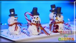 Christmas Cake Snowmen (How To)