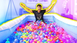 1000 Plus WATER BALLOONS IN A POOL