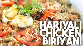Making A Biriyani Out Of Hariyali Chicken