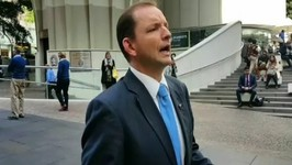 Tony Abbott Impersonator Hands Out 'Vote No' Cards Against Same-Sex Marriage