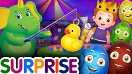 Surprise Eggs Nursery Rhymes Toys - Hook a Duck Game  Kids Fair - Carnival - ChuChu TV Egg Surprise