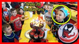DEION'S 7th BIRTHDAY PARTY - PETER PIPER PIZZA - VENOM THEME - DEION'S PLAYTIME