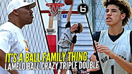 Lamelo Ball Crazy Triple Double Same Day As Big Bro Lonzo It's A Ball Family Thing