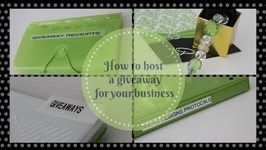 SMALL BUSINESS TIPS: How To Host A Giveaway For Your Small Business