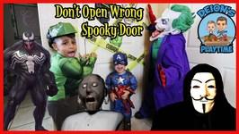 DON'T OPEN WRONG SPOOKY DOOR  DEION'S PLAYTIME