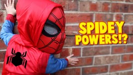 Spider-Man Powers Spider-Man Homecoming Movie Gear Test For Kids Pt 2