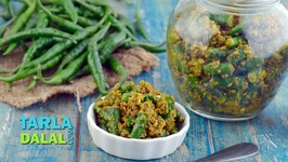 Hari Mirch ka Achar - Instant Green Chilli Pickle