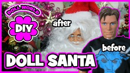 How to Make Doll Santa Claus with GI Joe Doll
