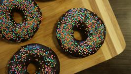 Eggless Chocolate Donuts - Doughnuts Recipe - Homemade Donut - Recipe By Sonali Raut
