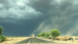 Funnel Cloud Touches Down in Southern Arizona