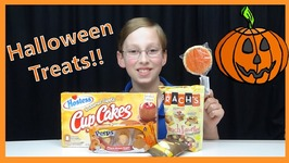Halloween Candy Taste Test Review - Pumpkin Pie Pop  Caramel Apple Cupcakes  Peeps