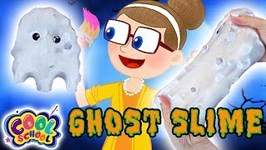 Ghost Slime - Halloween Crafts - Crafty Carol - Slime for Kids - Cartoons for Kids