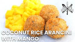 Coconut Rice Arancini With Mango / Easy Dessert Recipe