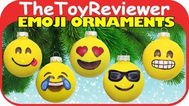 DIY Emoji Ornaments Christmas Craft Easy Kids Smiley Faces Unboxing Toy Review