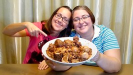 Cholent Stew-Gay Family Mukbang- Eating Show