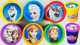 Play Doh Disney Princess Frozen Elsa Rapunzel Belle Ariel Surprise Eggs Learn Colors
