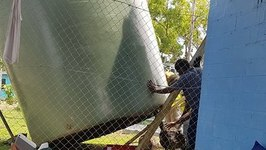 Water Tanks Destroyed and Removed From Abandoned Manus Island Detention Centre