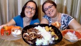 Curry Fish Balls, Spicy BBQ Squid, Pickled Korean Radish, Yogurt Dip And Sweet Peers Mukbang