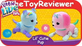 Little Live Pets Lil Cutie Pups Puppy Pawberry Starbow Dog Unboxing Toy Review