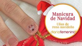 Cómo hacer las uñas de reno más graciosas - Diseño de uñas para Navidad