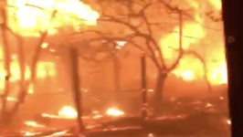 Firefighters Surrounded by Flames in Santa Rosa's Coffey Park Neighborhood