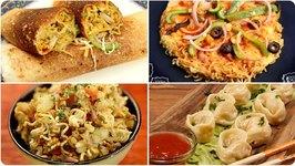 6 Maggi Recipes / Maggi Dosa - Maggi Pizza - Maggi Bhel And Maggi Spring Roll