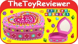 Sticky Mosaics Heart Box Orb Factory Stickers Jewelry Gems Unboxing
