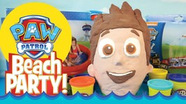 Paw Patrol Toys And Giant Paw Patrol Play-Doh Surprise Eggs - A Paw Patrol Surprise Egg