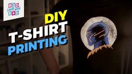 DIY BLACK PANTHER - AVENGERS INFINITY WAR - T-SHIRT PRINTING