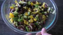 Summer Beans Salad - Easy Homemade Summer Side Dish