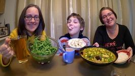 Favorite Vegetarian Meal: Edamame, Rice, Indian Vegetables And Tofu / Gay Family Mukbang