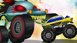 The Mysterious Map  Haunted House Monster Truck Videos  Car Cartoons For Kids