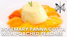 Rosemary Panna Cotta With Poached Peaches